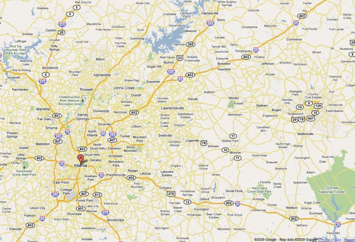 A Map Of Atlanta Georgia.Atlanta Ga Zemėlapis Zemėlapis Is Atlanta Ga Jungtinės